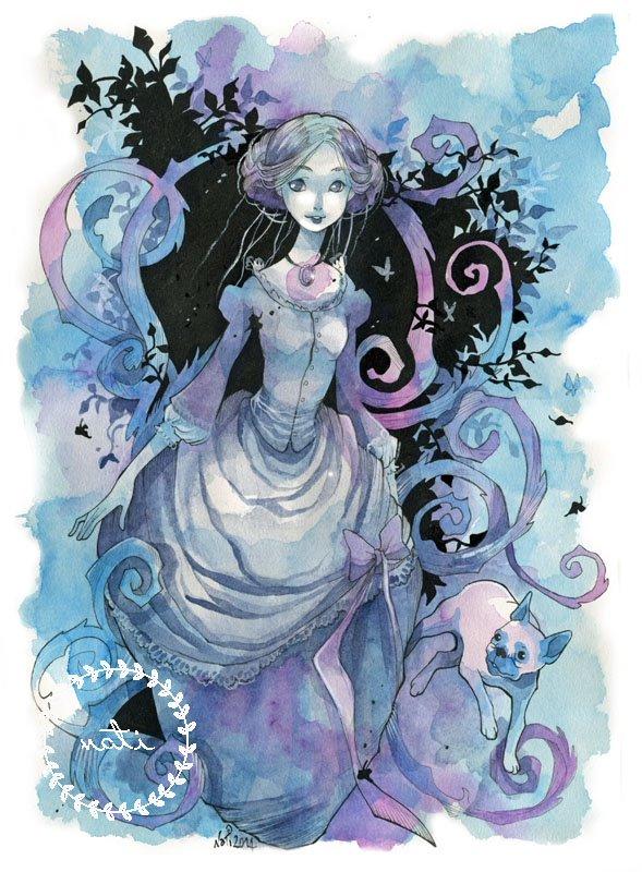 In purple and blue (Lavinia)