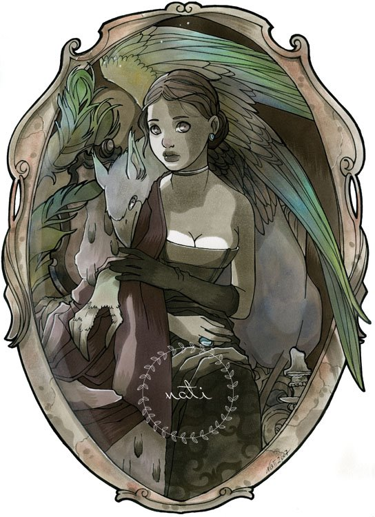 Lady with a Griffon